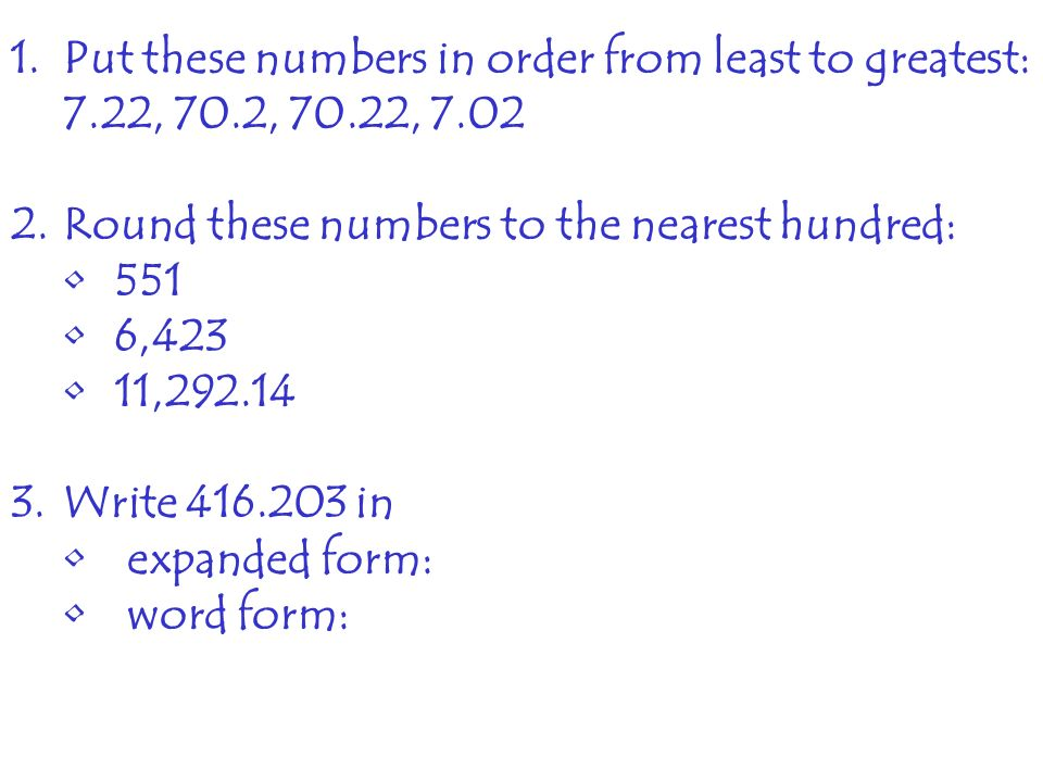 Notes Decimal Basics Writing Decimals Standard Form Ppt Download