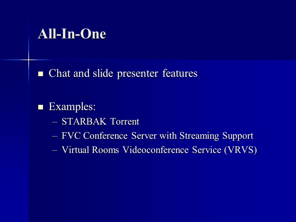 All-In-One Chat and slide presenter features Examples: STARBAK Torrent