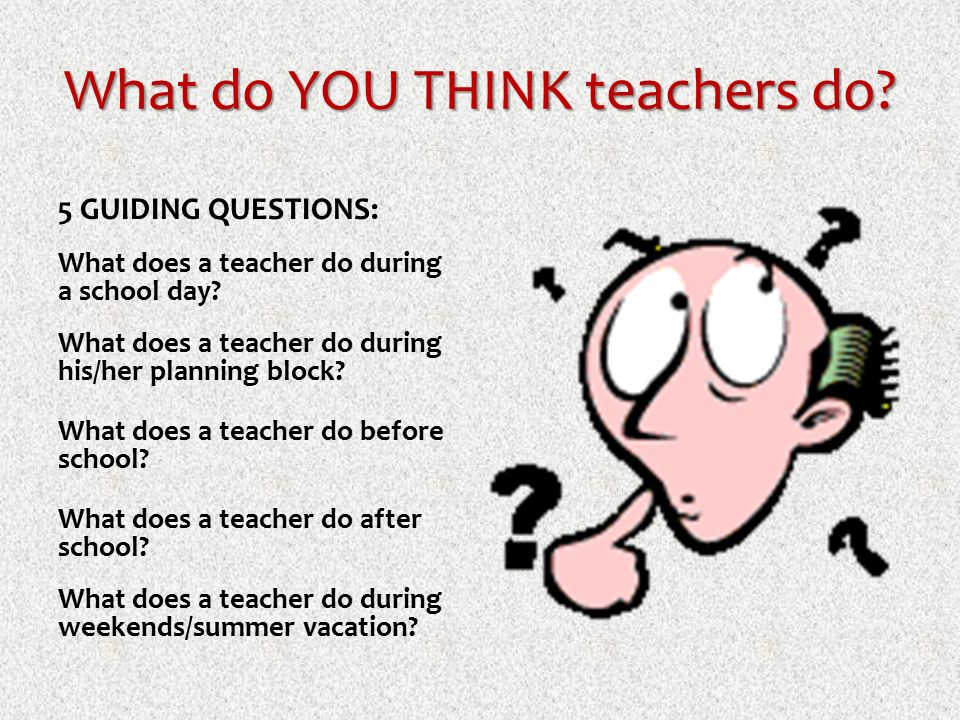 What Do YOU THINK Teachers