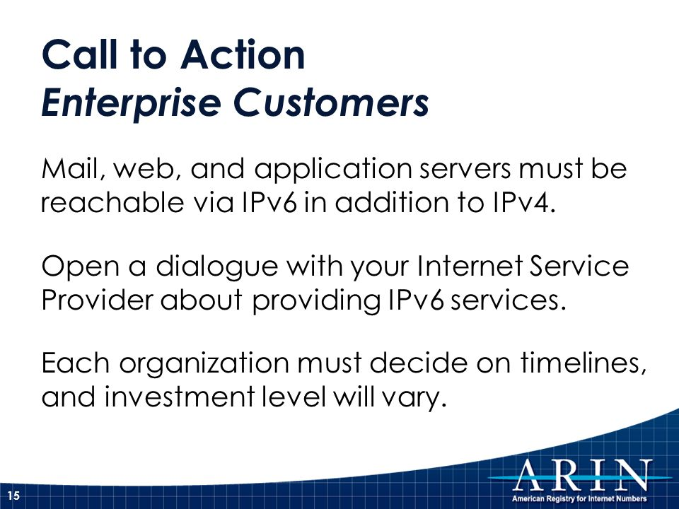 Call to Action Enterprise Customers