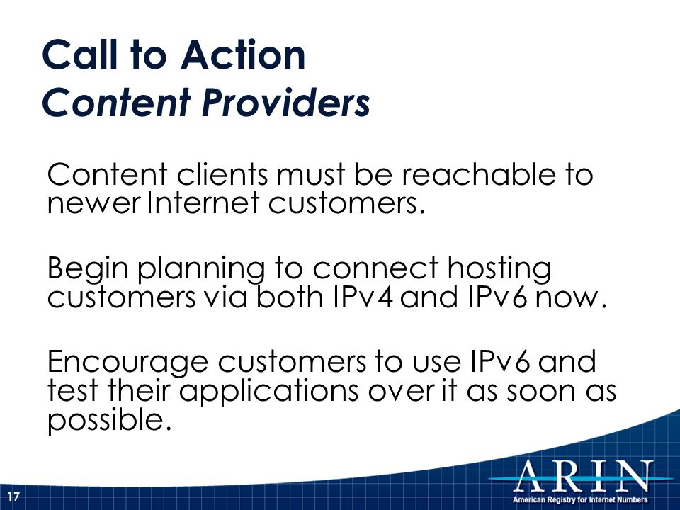 Call to Action Content Providers