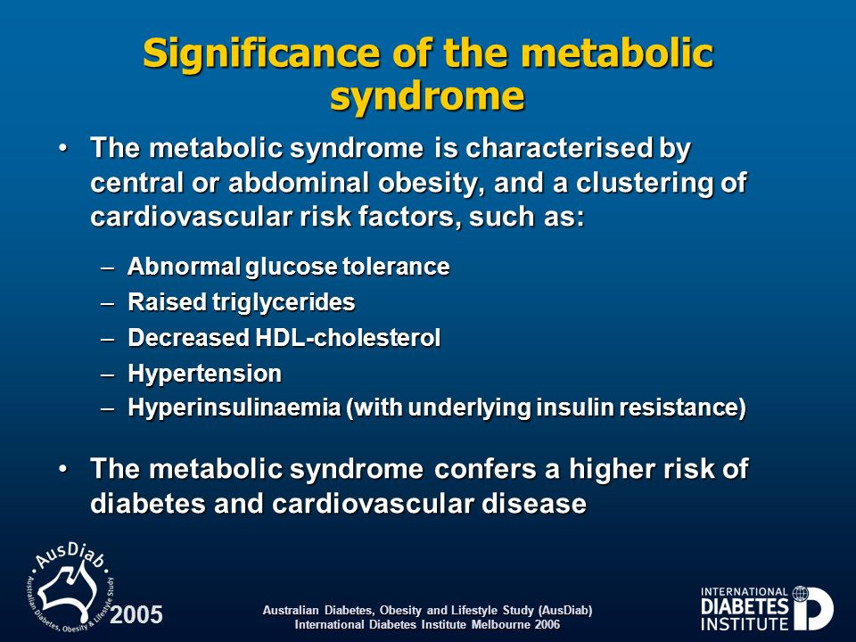 Significance of the metabolic syndrome