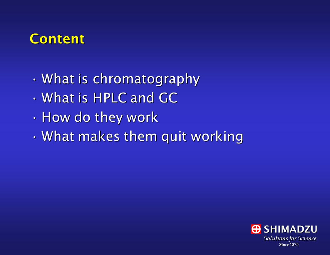 Shimadzu Scientific Instruments, Inc  - ppt download