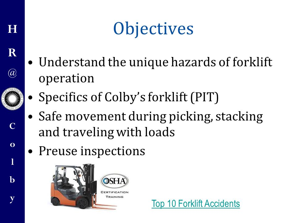 Forklift Operator Safety Training Ppt Video Online Download