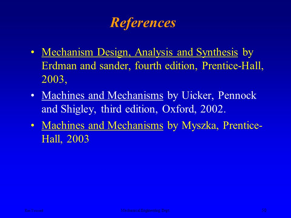 Mechanism Design Analysis And Synthesis Pdf