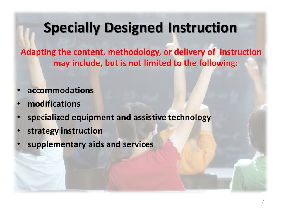 Developing Specially Designed Instruction Ppt Download