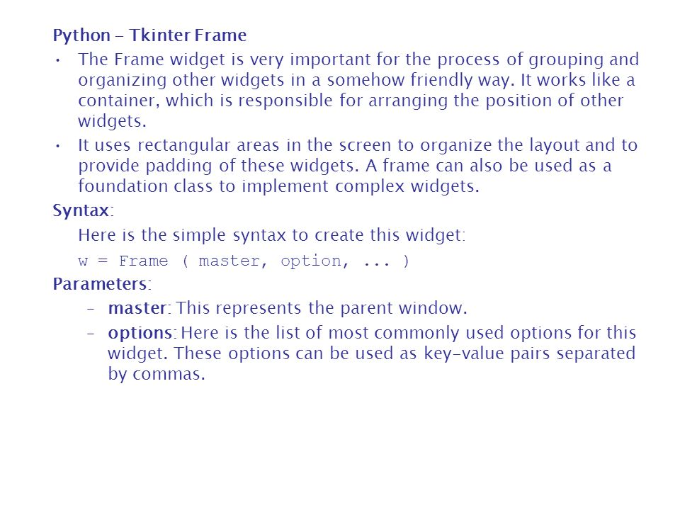 18  Python - GUI Programming (Tkinter) - ppt download