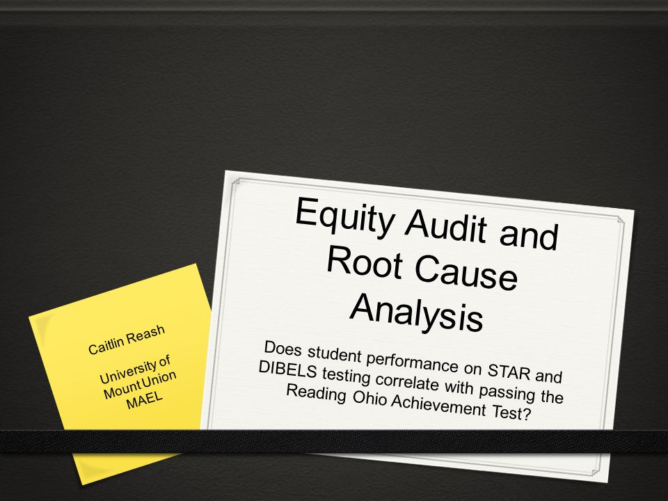 Equity Audit And Root Cause Analysis
