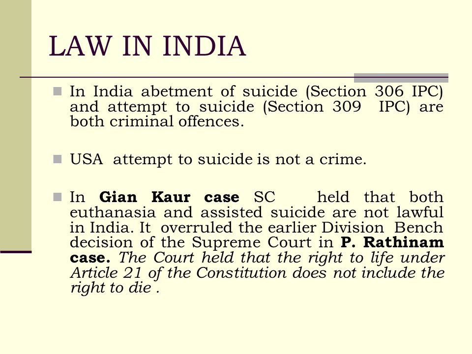 suicide laws in india