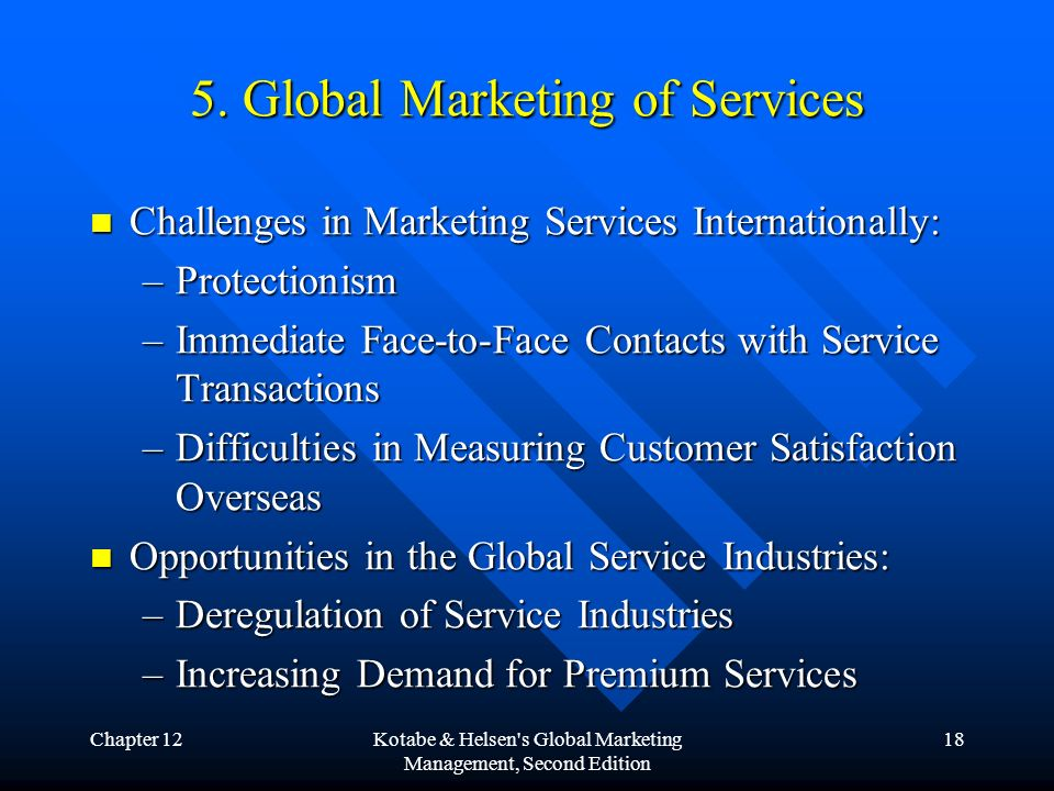 the difficulties of service marketing The marketing manager must also make adjustments in the marketing mix for a service a marketer must make sure the service is offered to the consumer at the correct time, place, price and promotion.