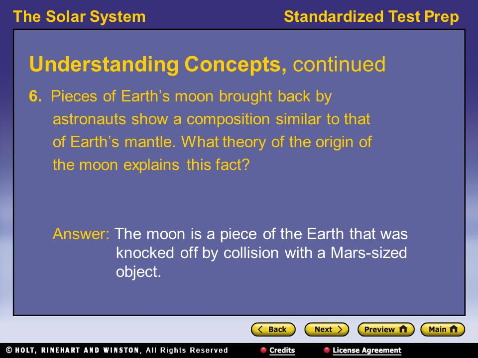 The Solar System Preview Understanding Concepts Reading Skills Ppt