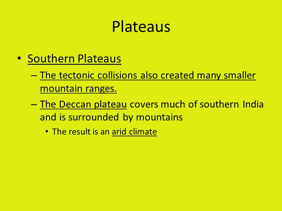 Plateaus Southern Plateaus