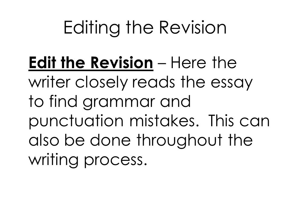 Editing the Revision
