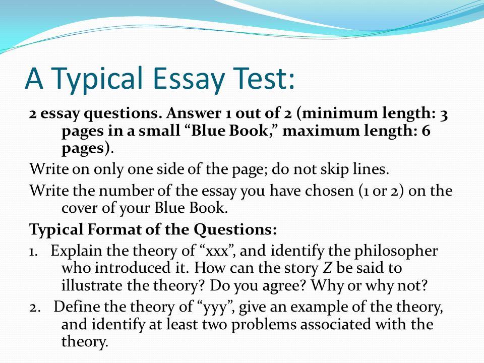Professor rosenstand s guide to essay tests ppt video online download