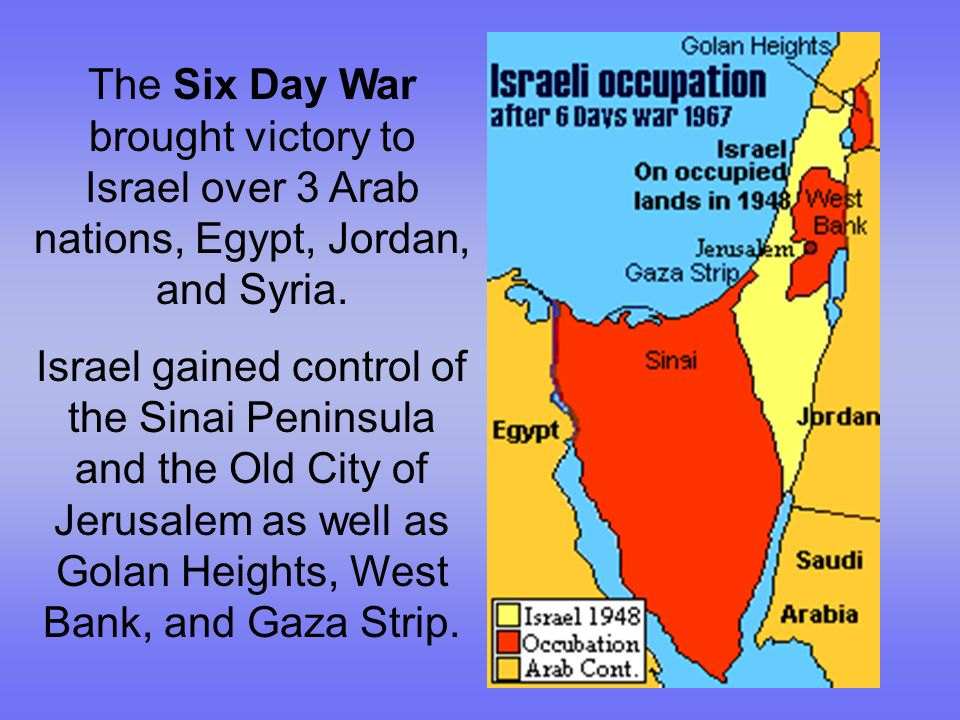 The Six Day War Brought Victory To Israel Over 3 Arab Nations Egypt Jordan