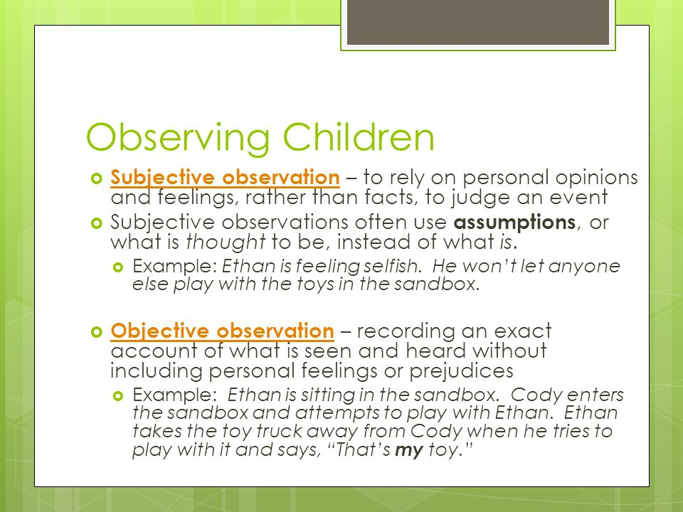 Ch 1 Learn About Children Ppt Download