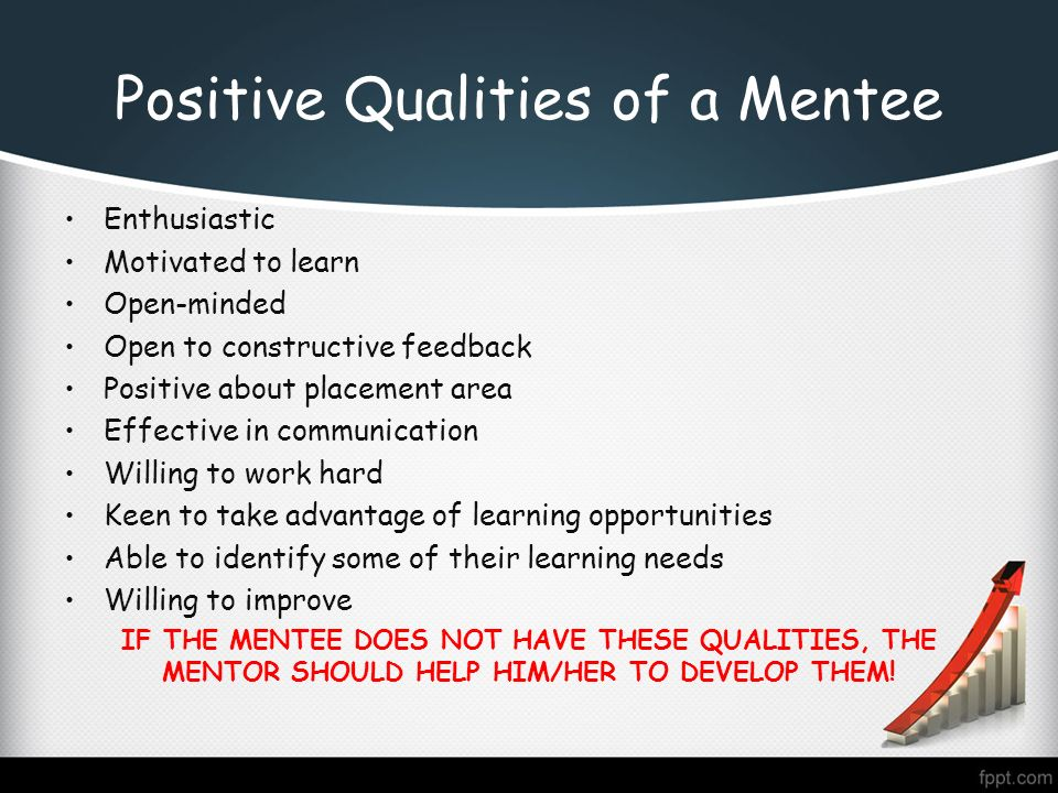 Positive Qualities Of A Mentee