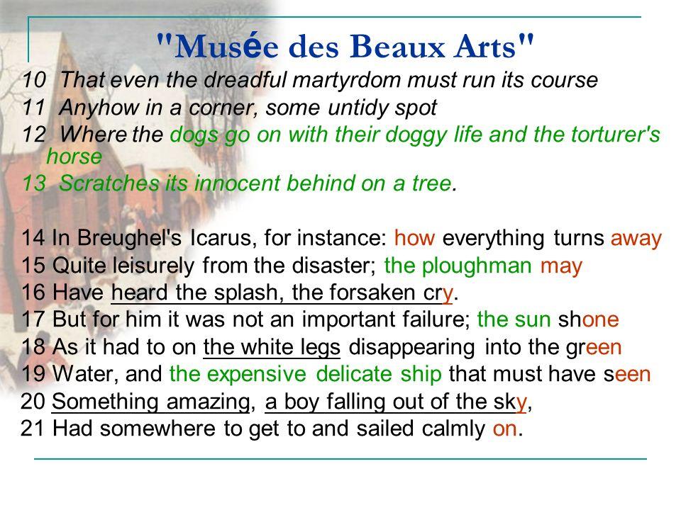 musee de beaux arts poem