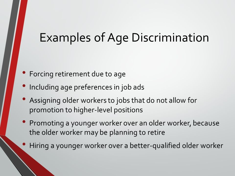 Examples Of Age Discrimination Image Collections Example Cover