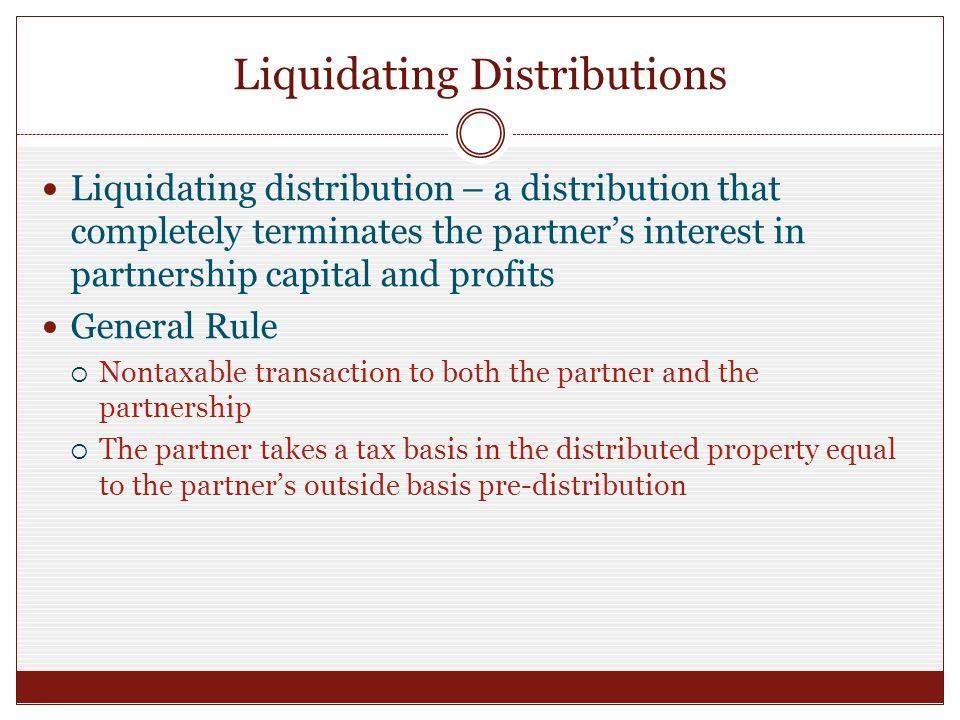 Liquidating distributions people meet dating sites