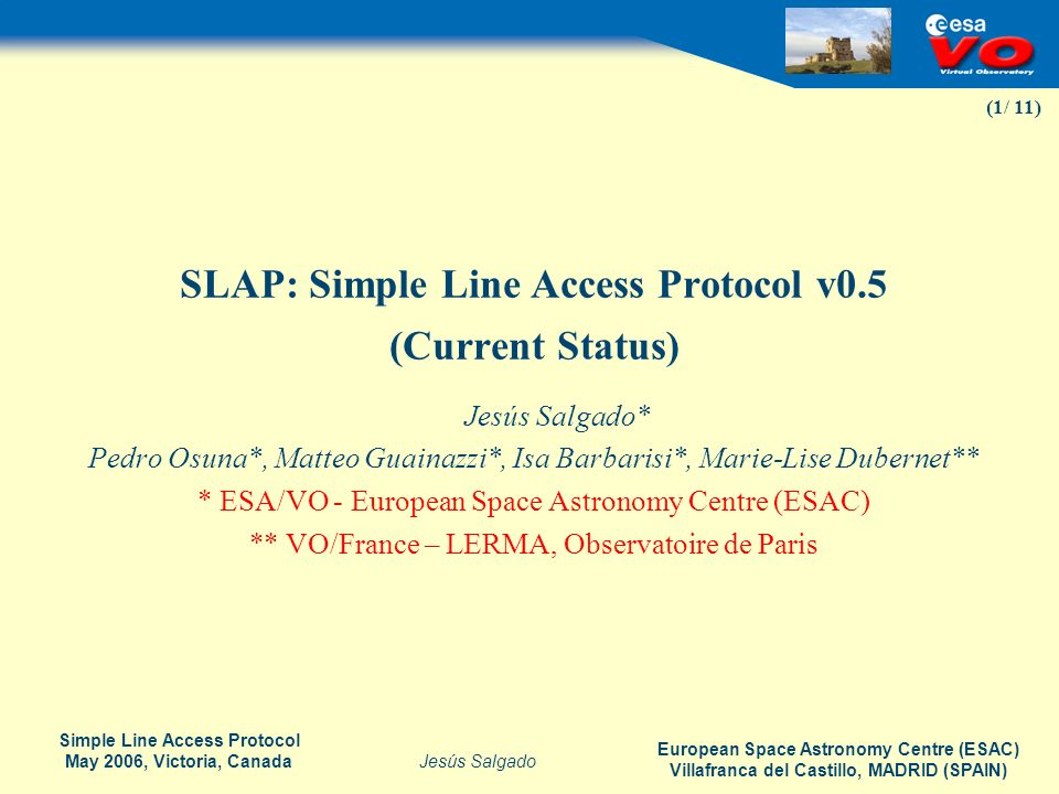 SLAP: Simple Line Access Protocol v0.5