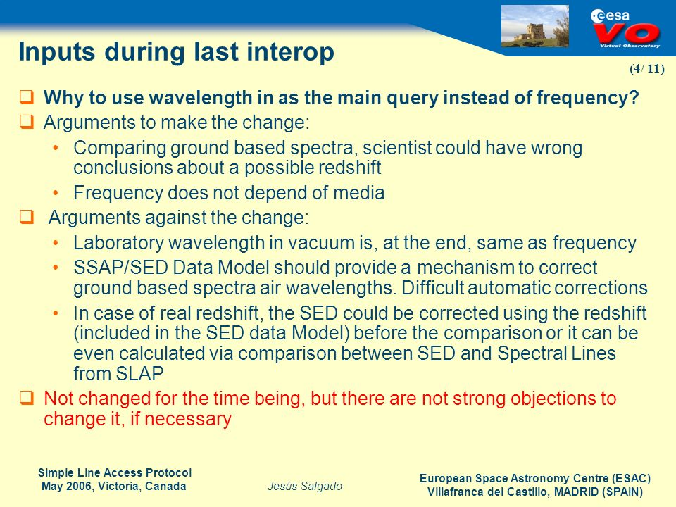 Inputs during last interop