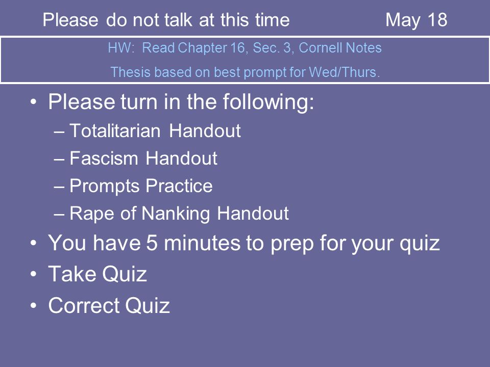 Please turn in the following: