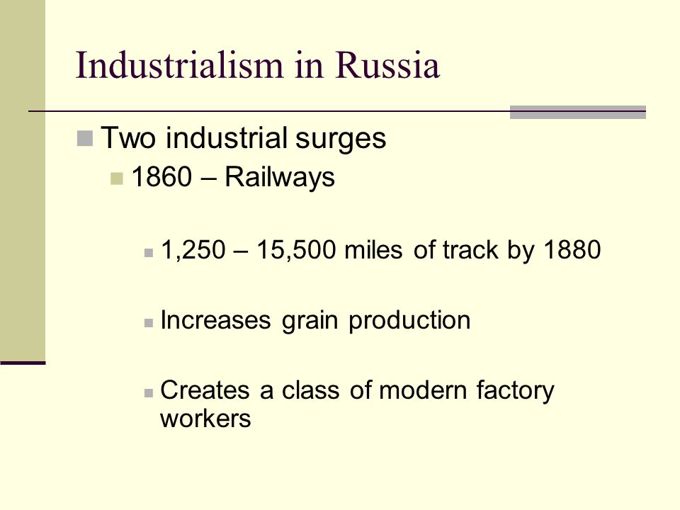 Industrialism in Russia