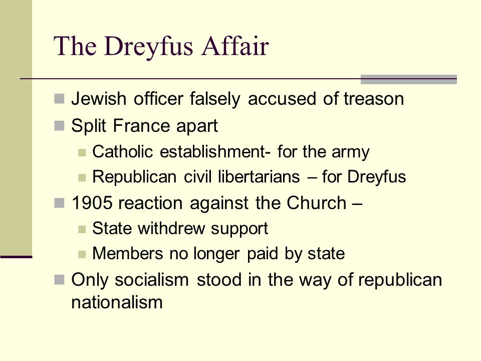 The Dreyfus Affair Jewish officer falsely accused of treason
