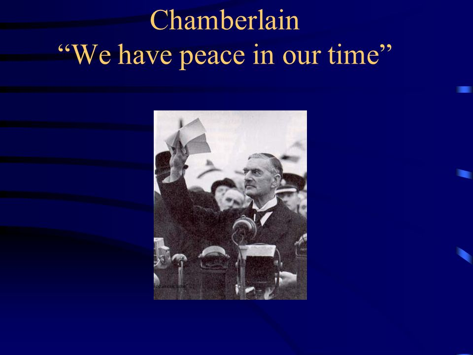 Chamberlain We have peace in our time