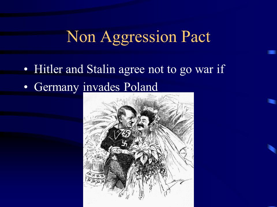 Non Aggression Pact Hitler and Stalin agree not to go war if
