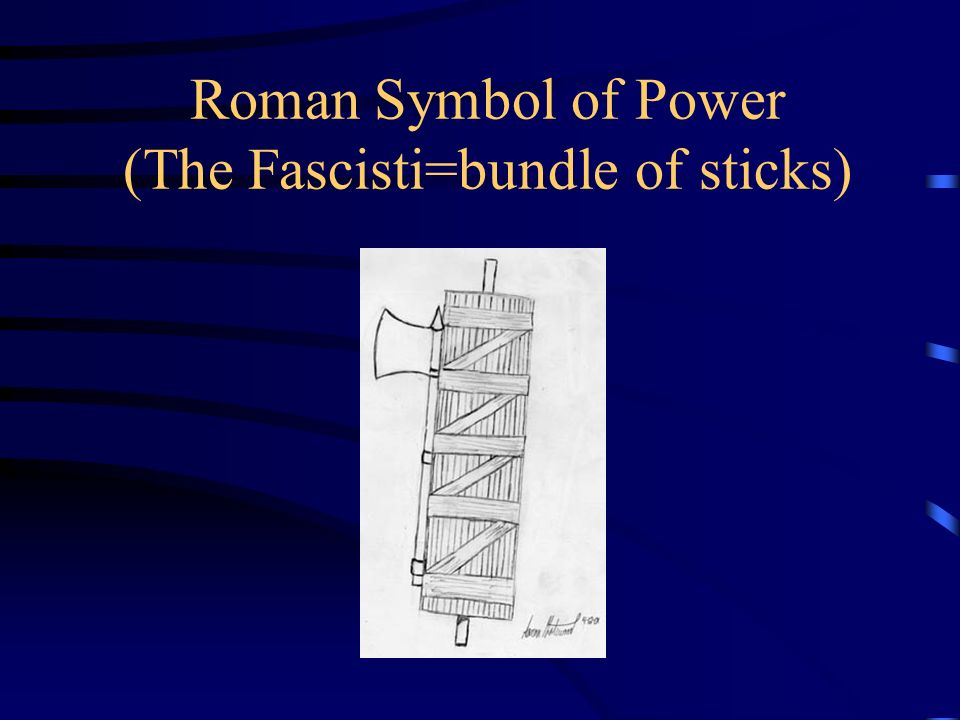 Roman Symbol of Power (The Fascisti=bundle of sticks)
