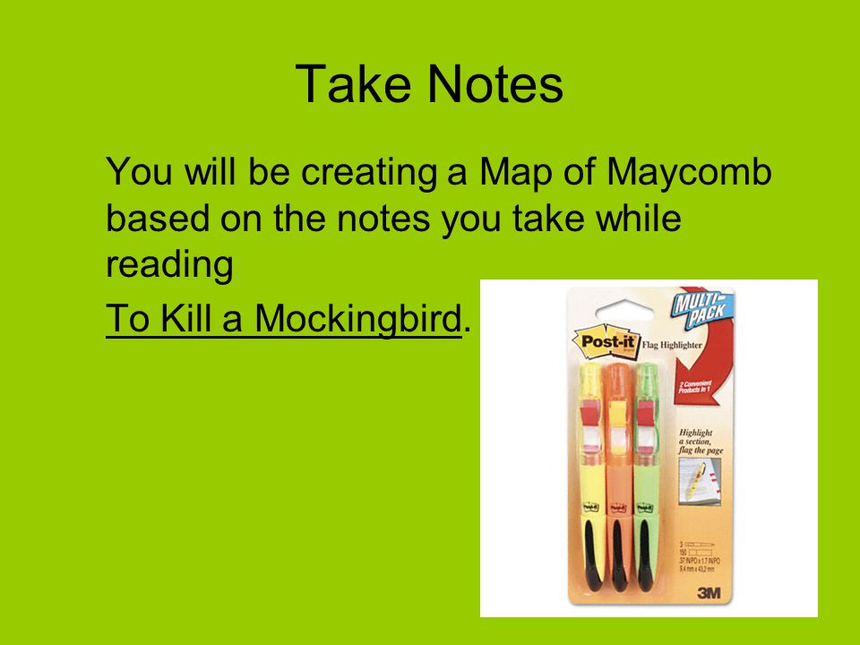 Mapping Maycomb To Kill a Mockingbird. - ppt video online download