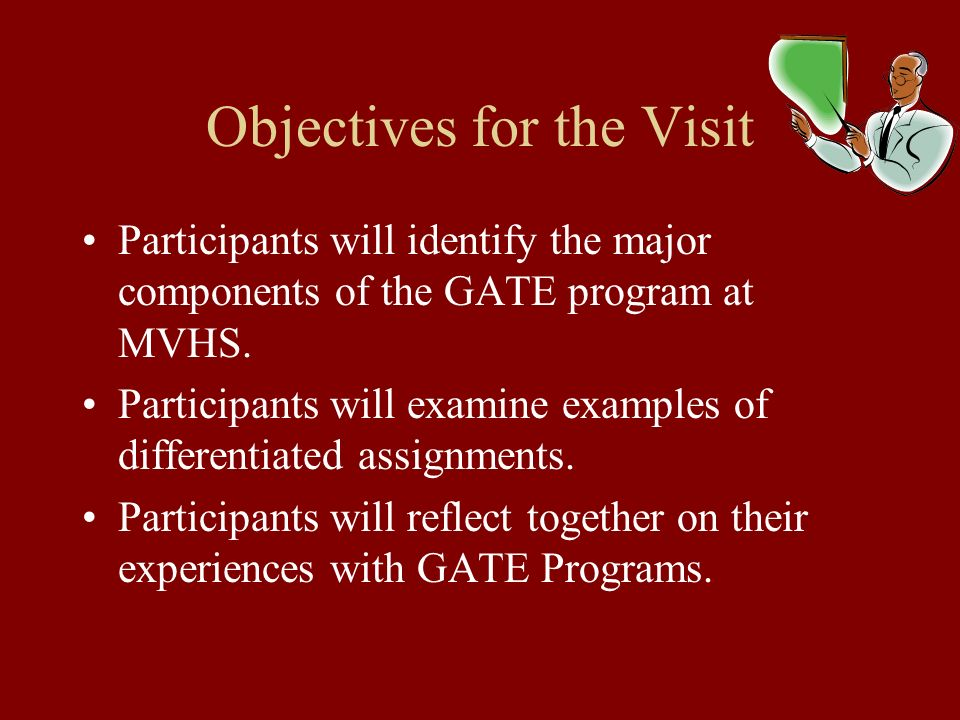 Objectives for the Visit