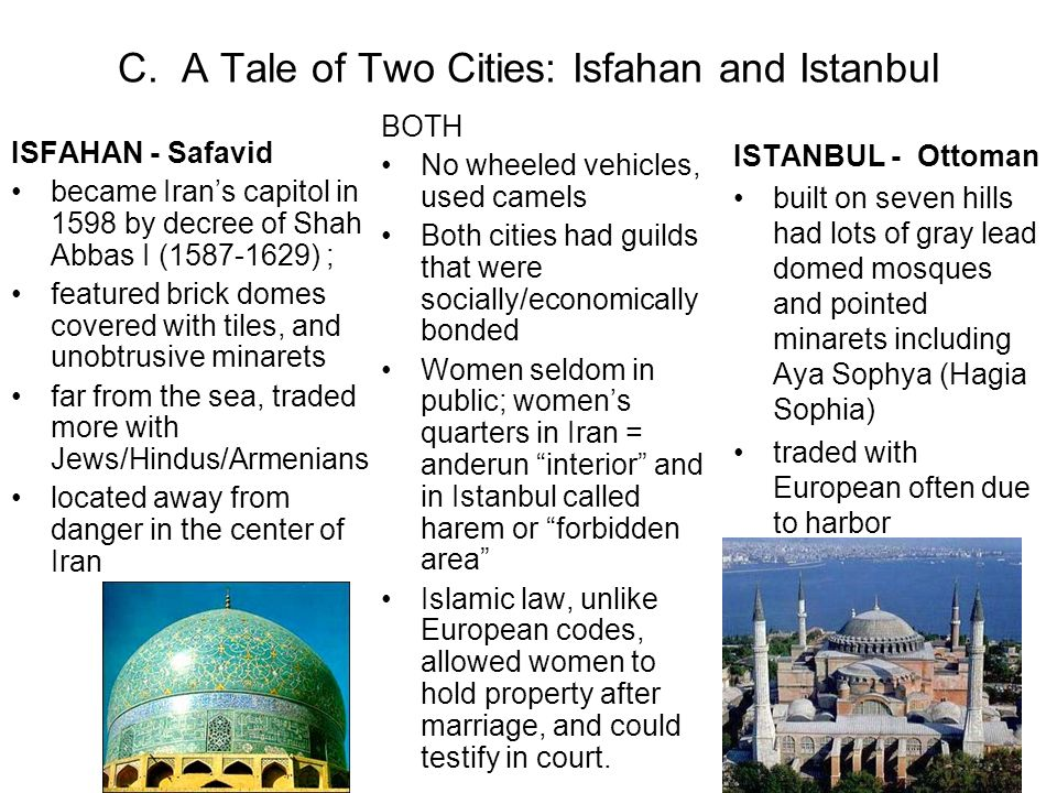 C. A Tale of Two Cities: Isfahan and Istanbul