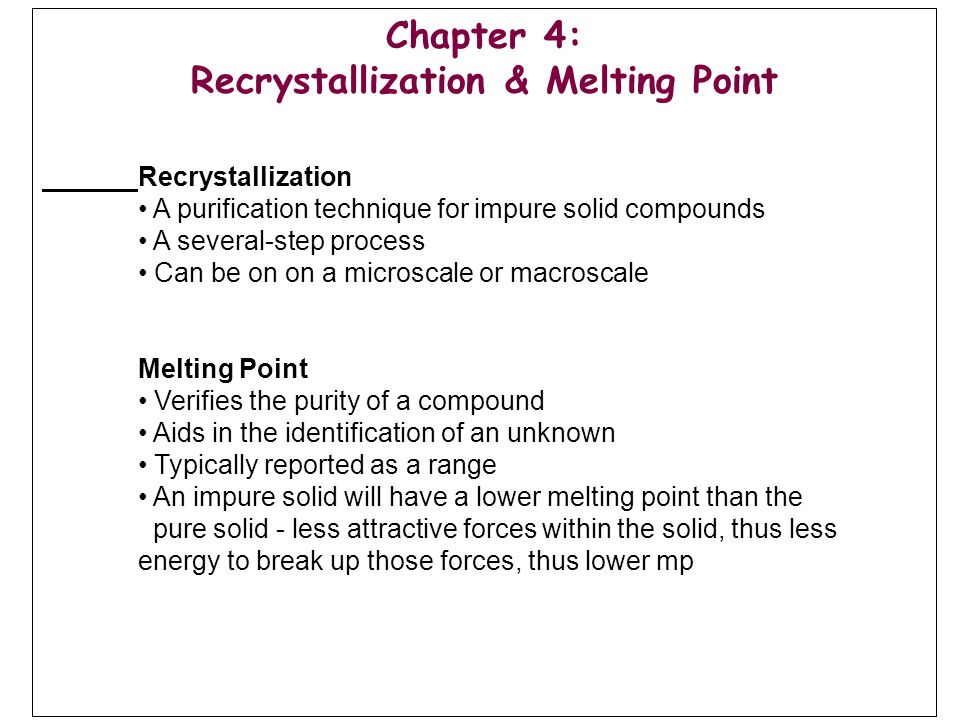 recrystallization lab report answers
