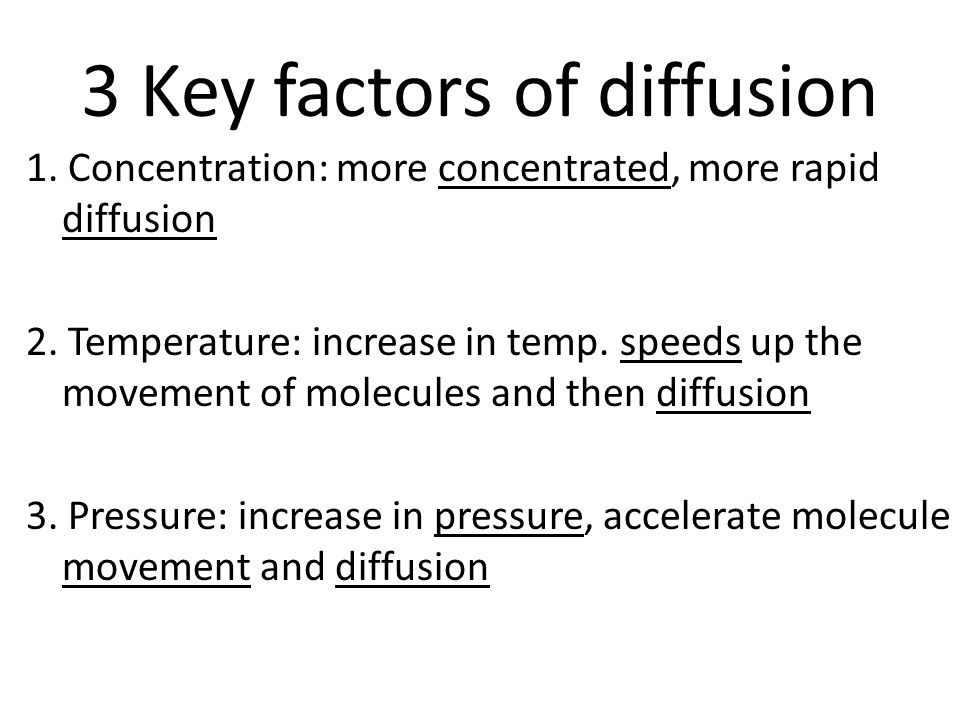 3 Key factors of diffusion