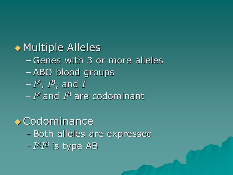 Multiple Alleles Codominance Genes with 3 or more alleles