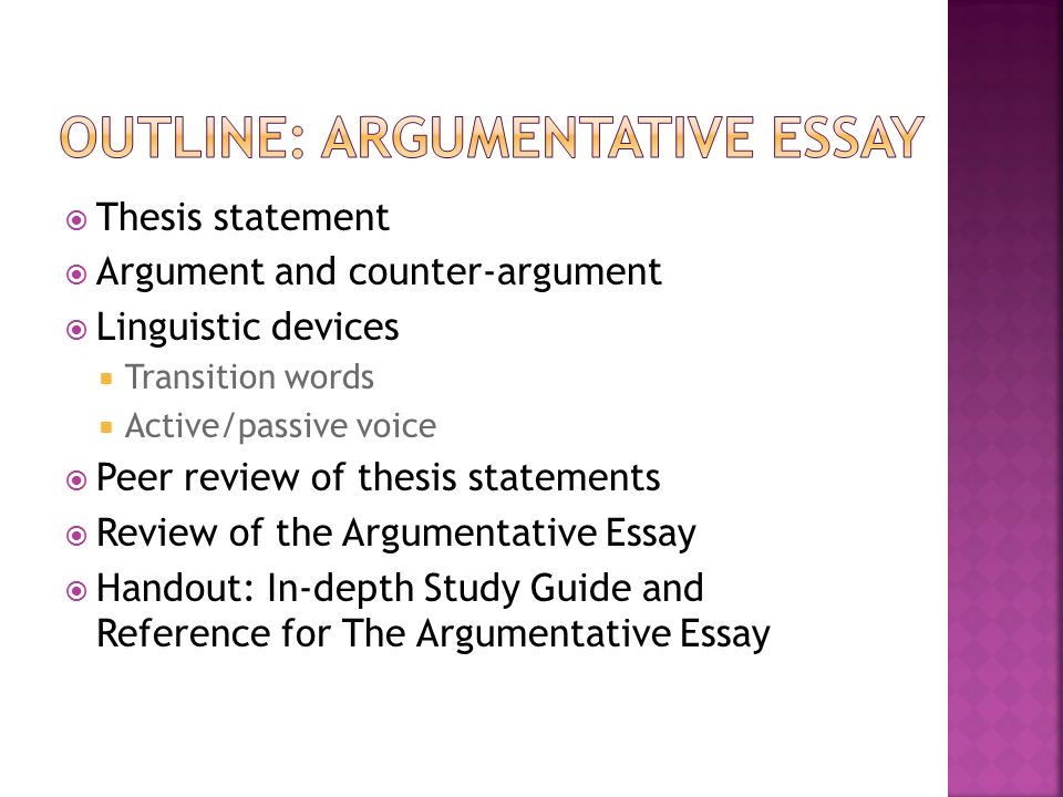 Argumentative Essay Choo Choo Thesis Statement  Ppt Download Outline Argumentative Essay