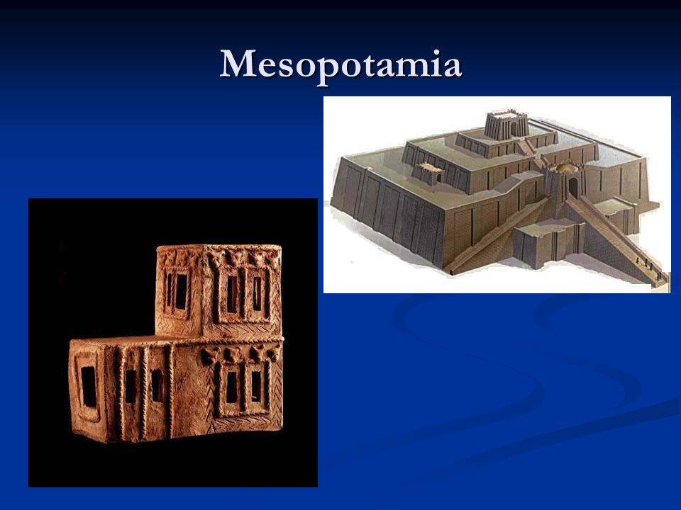 Mesopotamia Mud mud mud- clay model of a house in UR
