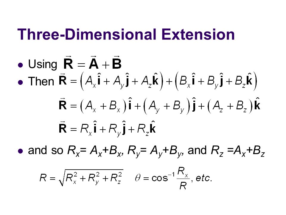 Three-Dimensional Extension