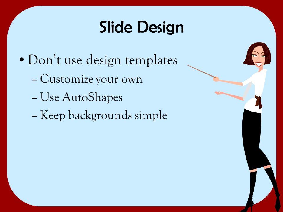 3 slide design