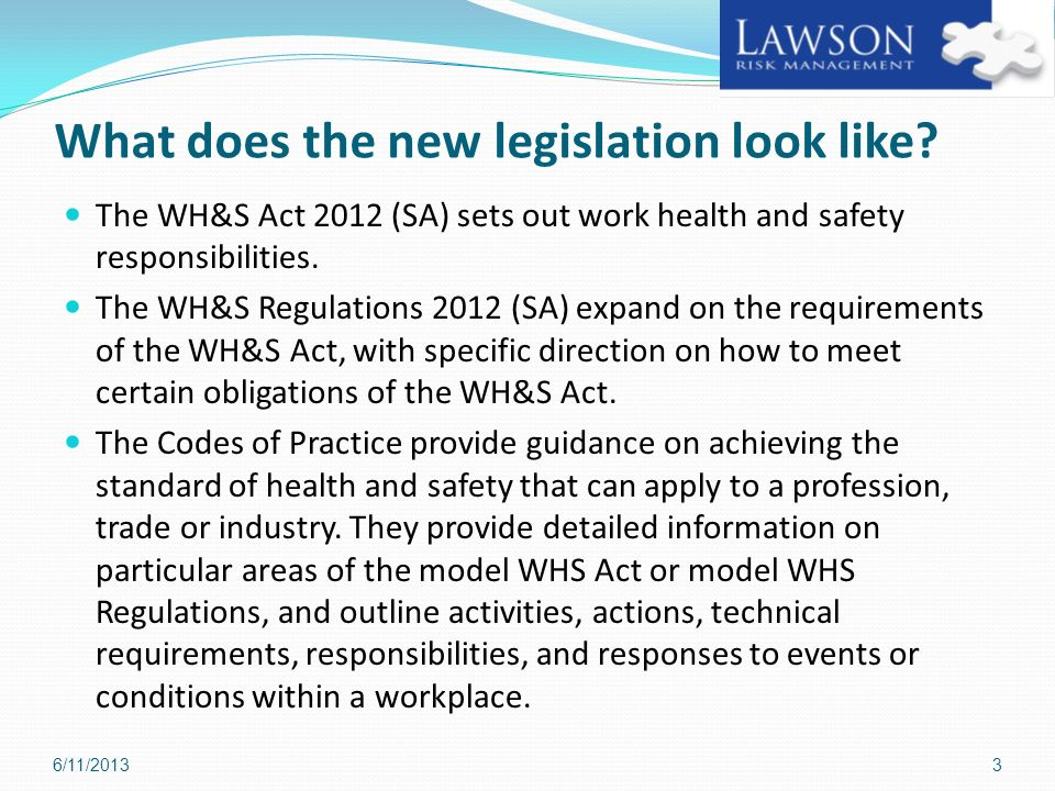 What does the new legislation look like