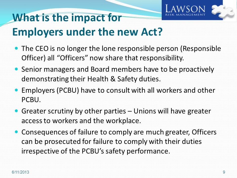 What is the impact for Employers under the new Act