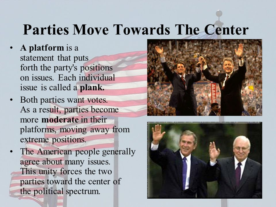 Parties Move Towards The Center