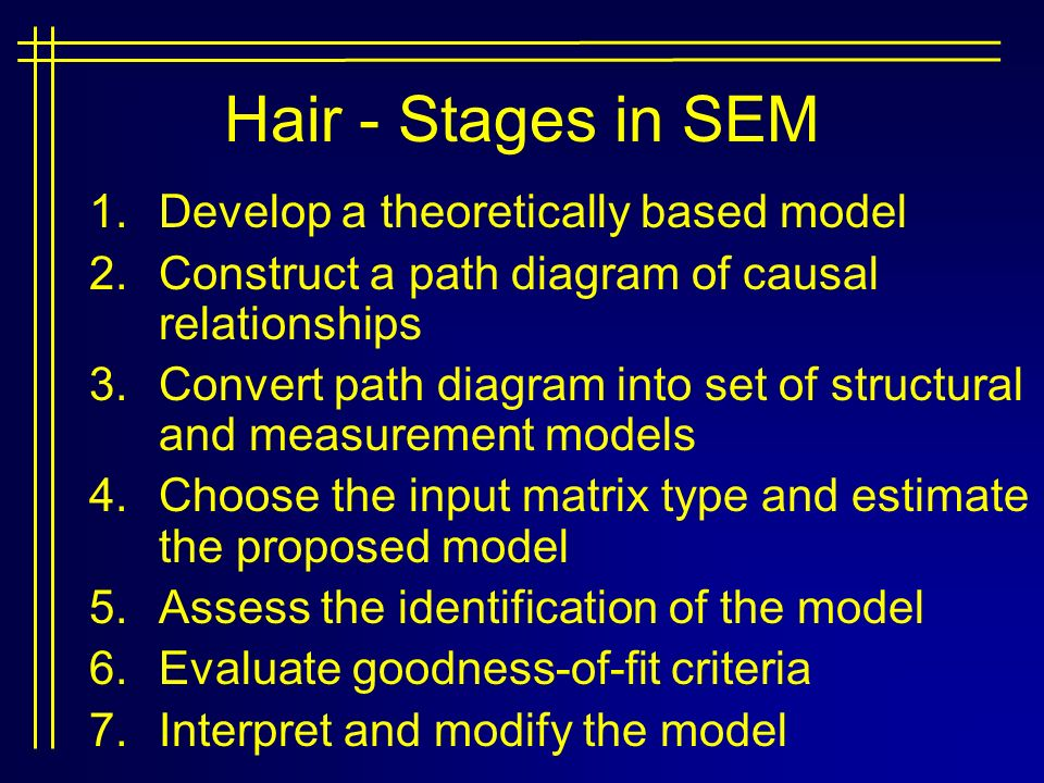 Structural equation modeling ppt download 25 hair ccuart Choice Image