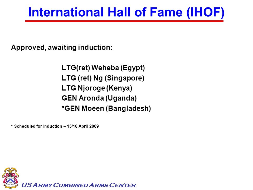 International Hall of Fame (IHOF)