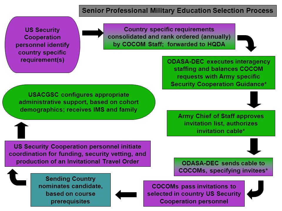 Senior Professional Military Education Selection Process