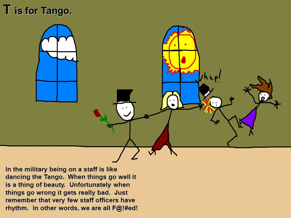 T is for Tango.
