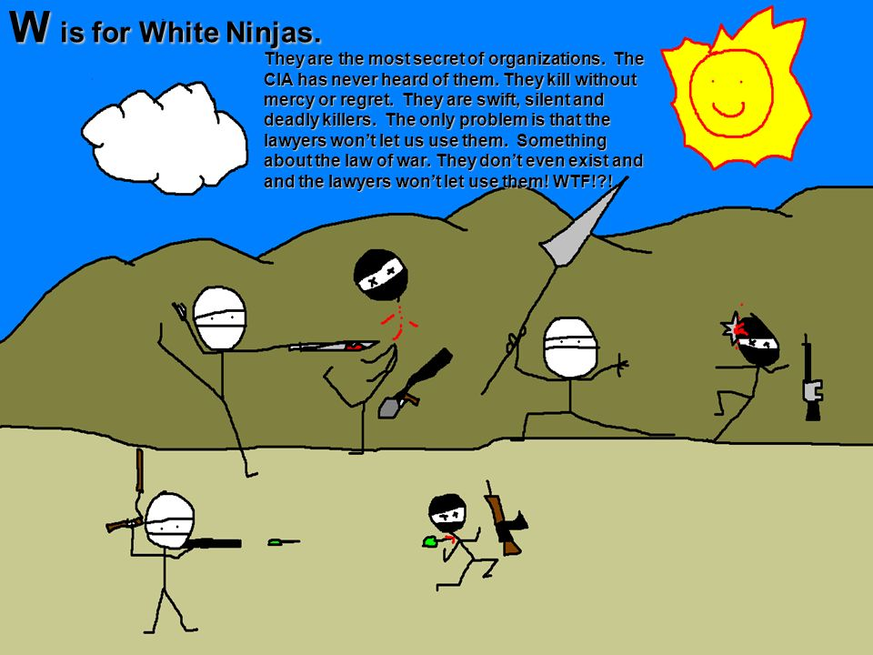 W is for White Ninjas.